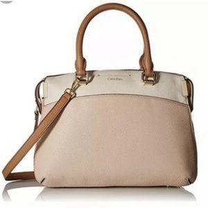 Calvin Klein Raelynn leather satchel bag purse